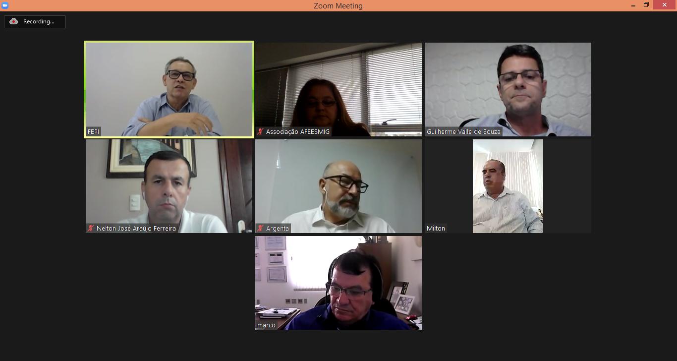 Reunião, online, da Diretoria Executiva.